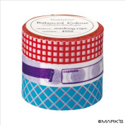 Japanese Washi Masking Tape Set of 3 - Mark'sphere Vitamin Supplements Red