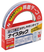 Double-sided tape 15mm x 18M Shinji NW-DE15 easy to peel off the NICHIBAN NICETACK release paper