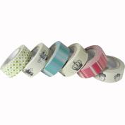 Set of 6 Printed Paper Tapes in Box - Bee, Crown, Acorn