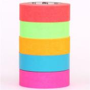 neon mt Washi Masking Tape deco tape set 5pcs box