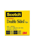 3M Permanent Double Sided Tape 1.9cm . x 36 yd. roll with 7.6cm . core 665 [PACK OF 2 ]