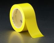 3M 471 Vinyl Rubber Adhesive Tape, 170 Degree F Performance Temperature, 5.2 mil Thick, 36 yds Length x 5.1cm Width, Yellow