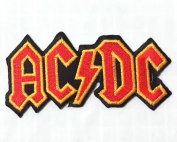 AC/DC patches 10x5 cm Iron on Patch / Embroidered Patch This Appliques Are Great for T-shirt, Hat, Jean ,Jacket, Backpacks.