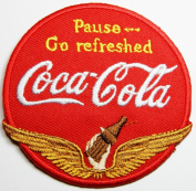 coca cola patches 7x7 cmIron on Patch / Embroidered Patch This Appliques Are Great for T-shirt, Hat, Jean ,Jacket, Backpacks.