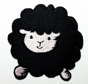 Cute Black Sheep Patches 7x7.5 Cm Iron on Patch / Embroidered Patch This Appliques Are Great for T-shirt, Hat, Jean ,Jacket, Backpacks.