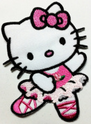 Hello Kitty Patches 6x8.8 Cm Iron on Patch / Embroidered Patch This Appliques Are Great for T-shirt, Hat, Jean ,Jacket, Backpacks.