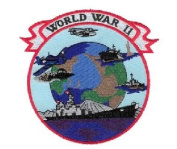 World War II Small Patch Military Collectibles, Patriotic Gifts for Men, Women, Teens, Veterans Great Gift Idea for Wife, Husband, Relative, Boyfriend, Girlfriend, Grandparent, Fiance or Friend. Perfect Christmas Stocking Stuffer or Veterans Day Gift I ..
