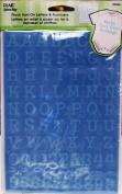 Uptown Baby 92506 Flock Iron on Appliques, Baby Boy Light Blue Alphabet