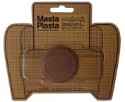 MastaPlasta Peel and Stick TAN First-Aid Leather Repair Band-Aid. Plain circle design 5.1cm wide. TAN