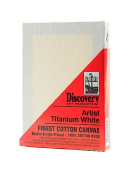 Discovery Finest Stretched Cotton Canvas white 13cm . x 18cm . each [PACK OF 6 ]