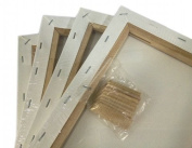 LOT of 4 ARTIST CANVASES 30cm x 41cm FRAMED STRETCHED COTTON CLOTH- BLANK SET PACK