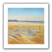 ArtWall 'Beach Strollers' Flat Unwrapped Canvas Art by Timothy Easton, 60cm by 60cm