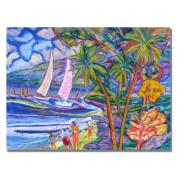 Trademark Art Maui Surf by Manor Shadian Canvas Wall Art