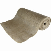 Fine Burlap Natural Colour Jute Ribbon Roll with Edge Stitching