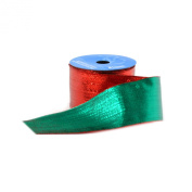 Berwick 6.4cm Wide by 10-Yard Spool Wired Edge Flipside Craft Ribbon, Red/Green