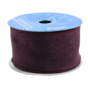 Berwick Wired Edge Saddle Craft Ribbon, 6.4cm by 10-Yard Spool, Eggplant