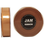 Gold Satin 2.2cm thick x 25 yards Spool of Double Faced Satin Ribbon - Sold individually