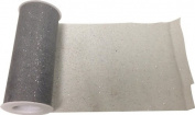 Reliant Ribbon Glitter Tulle Ribbon, Silver