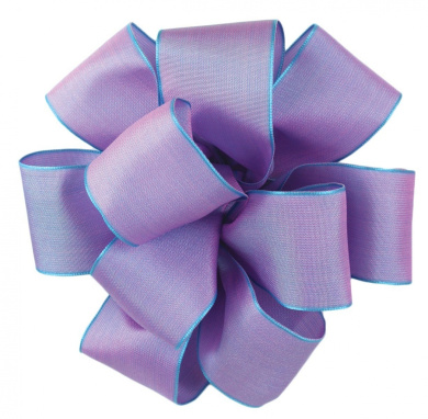 Offray Wired Edge Gelato Craft Ribbon, 1.6cm Wide by 25-Yard Spool, Wisteria