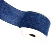 LUV RIBBONS Fabric Ribbon by Creative Ideas, 5.1cm , Canvas Glam, Denim