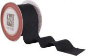 5.1cm Dupioni Silk Ribbon - Black