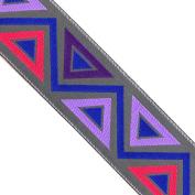 "5 yards 1-1/2"" WIDE 39mm Geometric Woven Jacquard Ribbon Trim Tape"