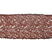 Vickerman 78210cm - 6.4cm x 10yd Chocolate Glitter Mesh Ribbon