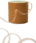 May Arts 0.3cm Wide Ribbon, Antique Gold Curly Sparkling