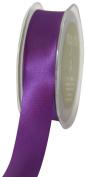 May Arts 2.5cm Wide Ribbon, Violet Satin
