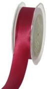 May Arts 2.5cm Wide Ribbon, Burgundy Satin