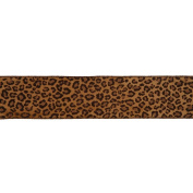 Vickerman 78030cm - 6.4cm x 10yd Brown Leopard Velvet Ribbon