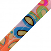 Venus Ribbon 1.9cm Stretch Novelty Trim, 5-Yard, White/Multi