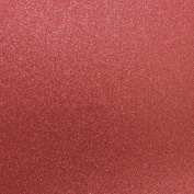 Best Creation 30cm by 30cm Glitter Cardstock, French Red