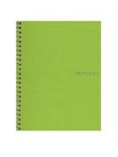 Fabriano EcoQua Notebooks spiral blank lime 15cm . x 21cm .