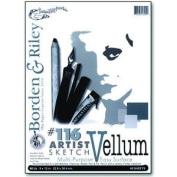 Borden & Riley #116 Artist Drawing/Sketch Vellum Clothbound Pads 36cm . x 43cm . 40 sheets