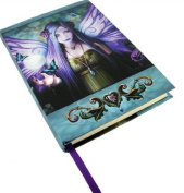 Licenced Anne Stokes Mystic Aura Purple Fairy with Pentagram Embossed Journal