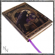Black Raven & Pentagram Talisman Embossed Journal By Lisa Parker