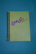 Doodlz BJ46WL Black Page Journal 10cm x 15cm Lime Green Cover Wirebound Sketchbook Made in USA