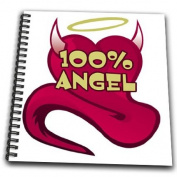 Dooni Designs Valentines Day and Love Designs - 100% Angel Devil Heart Graphic - Drawing Book