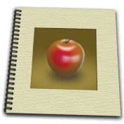 777images Designs Graphic Design Fruit - Red Delicious Apple Digital Graphic Representation of Fruit - Drawing Book