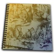 PS Vintage - Alice in Wonderland Collage Art - Drawing Book