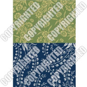 Nunn Design Collage Sheet Green/Navy Floral For Scrapbook - Fits Patera