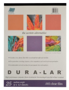 Grafix Clear .003 Dura-Lar Film, 23cm by 30cm , 25 Sheets