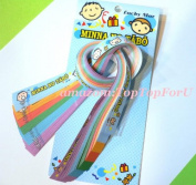 Sanrio Minna No Tabo Lucky Wish Star Origami Star Paper Folding Star 60 pcs 6 Colours