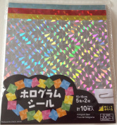 Hologram Seal Kaleidoscope Origami Paper 15cm X 15cm 10 Sheets