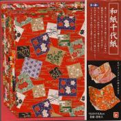 "Red Washi Prints - 6"" (15 cm), 8 sheets"