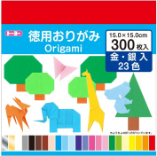 Toyo Origami Paper, 23 Colours, 300 Sheets