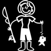 My Family Car Stick Figure Sticker Decal Mother Fishing NM11