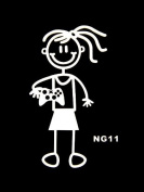 My Family Car Stick Figure Sticker Decal Gameboy Remote Girl NG11