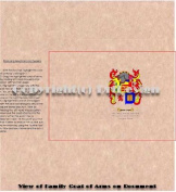 Farrier Coat of Arms/ Family Crest on Fine Paper and Family History